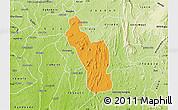 Political Map of Atakumosa, physical outside