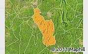 Political Map of Atakumosa, satellite outside