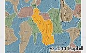Political Map of Atakumosa, semi-desaturated