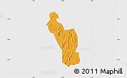 Political Map of Atakumosa, single color outside