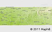 Physical Panoramic Map of Atakumosa