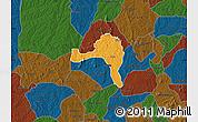 Political Map of Ejigbo, darken