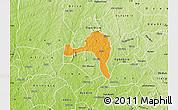 Political Map of Ejigbo, physical outside