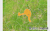 Political Map of Ejigbo, satellite outside