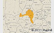 Political Map of Ejigbo, shaded relief outside