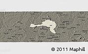 Shaded Relief Panoramic Map of Ejigbo, darken