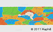 Shaded Relief Panoramic Map of Ejigbo, political outside