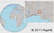 Gray Location Map of Odo0tin