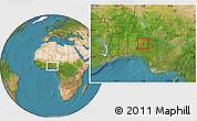 Satellite Location Map of Odo0tin