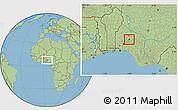 Savanna Style Location Map of Odo0tin