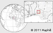 Blank Location Map of Olorunda