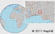 Gray Location Map of Olorunda