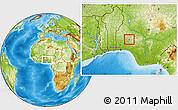 Physical Location Map of Olorunda