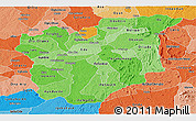Political Shades Panoramic Map of Osun