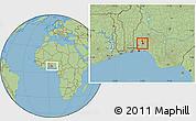 Savanna Style Location Map of IbadanNorth-West