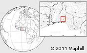 Blank Location Map of IbadanNorth