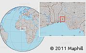 Gray Location Map of IbadanNorth