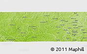 Physical Panoramic Map of Ibarapa