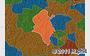 Political Map of Ido, darken