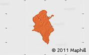 Political Map of Ido, single color outside