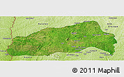 Satellite Panoramic Map of Ifedapo, physical outside