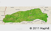 Satellite Panoramic Map of Ifedapo, shaded relief outside