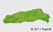 Satellite Panoramic Map of Ifedapo, single color outside