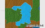 Political Map of Iseyin, darken