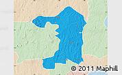 Political Map of Iseyin, lighten