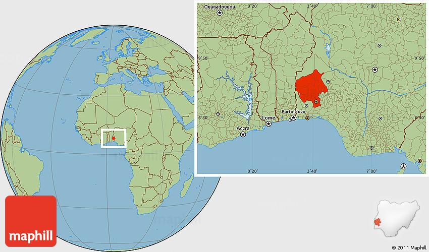 Savanna style location map of oyo sciox Choice Image