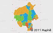 Political Map of Oyo, cropped outside
