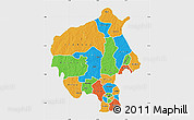 Political Map of Oyo, single color outside