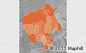 Political Shades Map of Oyo, desaturated