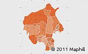 Political Shades Map of Oyo, single color outside