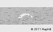 Gray Panoramic Map of Ogo-Oluw