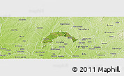 Satellite Panoramic Map of Ogo-Oluw, physical outside