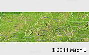 Satellite Panoramic Map of Ogo-Oluw
