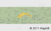 Savanna Style Panoramic Map of Ogo-Oluw