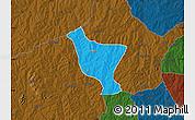 Political Map of Orelope, darken