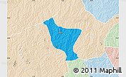 Political Map of Orelope, lighten