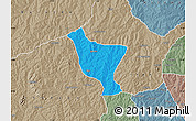 Political Map of Orelope, semi-desaturated