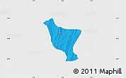 Political Map of Orelope, single color outside