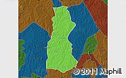 Political Map of Oyo, darken