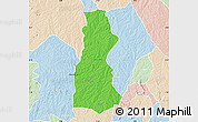Political Map of Oyo, lighten