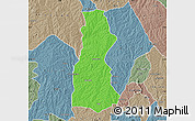 Political Map of Oyo, semi-desaturated