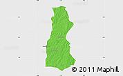 Political Map of Oyo, single color outside