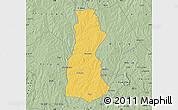 Savanna Style Map of Oyo