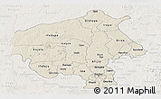 Shaded Relief Panoramic Map of Oyo, lighten
