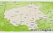 Shaded Relief Panoramic Map of Oyo, physical outside