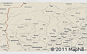 Shaded Relief Panoramic Map of Oyo